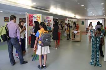 Students showcasing their a 263x300 Mount Litera School International, Bandra, Celebrates 'Art Week'