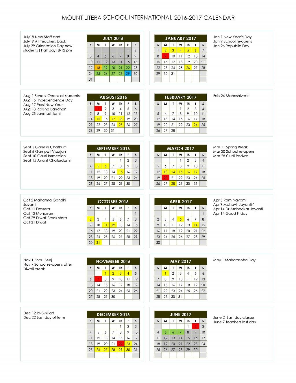 MLSI Final school year calendar final 2016-2017