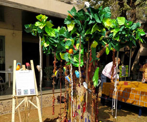 Students build an interesting installation at the Kala Ghoda festival