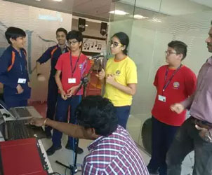 Rap created by school students urge voters to vote responsibly in the Lok Sabha elections